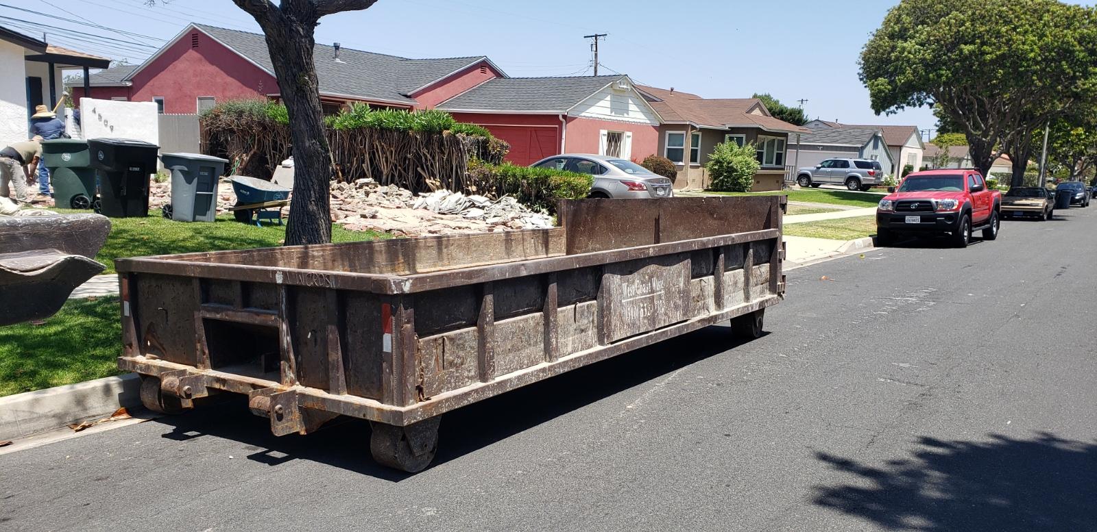 Concrete dumpster rental in Torrance
